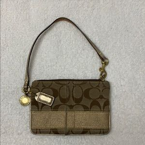 Coach - Brown and Gold Wristlet